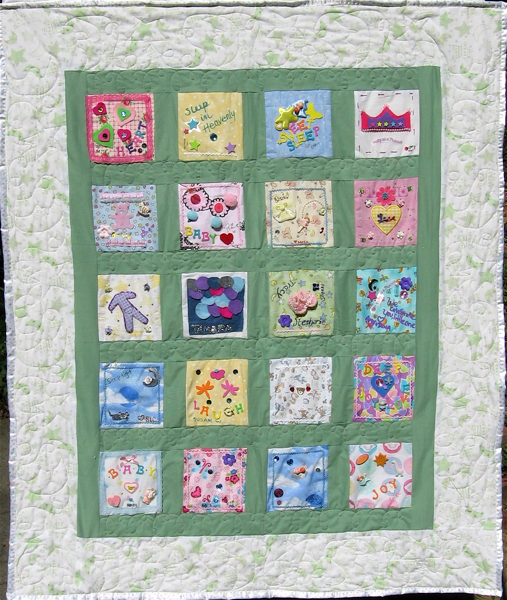 Customizedpersonalized quilt gifts birthday party babybridal customizedpersonalized quilt gifts birthday party babybridal shower activity memorial quilts negle Image collections
